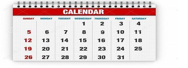 blank-calendar-red-days-month-32044334