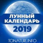 Добавили лунный календарь на 2019 год